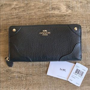 Coach Leather Mickie Accordion Zip Wallet